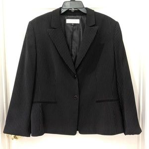 Tahari Black Pinstripe Blazer